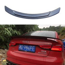 цена на A3 Carbon Fiber Auto Car Trunk Lid Rear Spoiler Wing for Audi A3 Sedan 2014 2015 2016 2017 RT Style