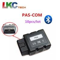 10pcs/lot NEWEST PSACOM PSA COM Bluetooth OBD2 Diagnostic Tool PSA COM Bluetooth OBD OBD2 For ECU/Key programming/DTC/Airbag