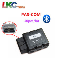 10pcs/lot NEWEST PSACOM PSA COM Bluetooth OBD2 Diagnostic Tool PSA COM Bluetooth OBD OBD2 For ECU/Key programming/DTC/Airbag