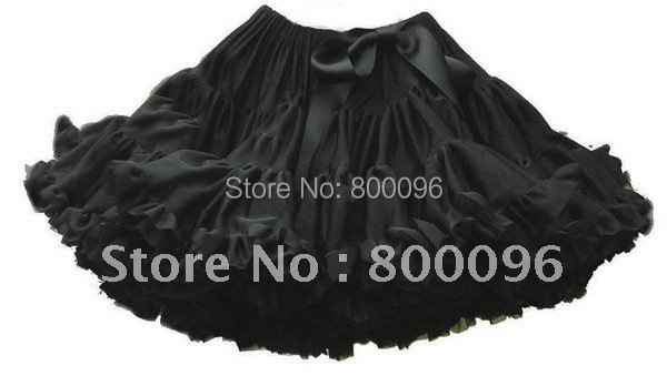Wholesale Baby Girls Black Tutu Bow Baby Lace Pettiskirt of  Ballet Tutu for Kids PETS-017