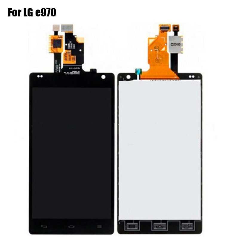 LCD Display For LG Optimus G E970 LCD Screen With Touch Digitizer Assembly Replacement With Logo OEM 100% Tested Well Black