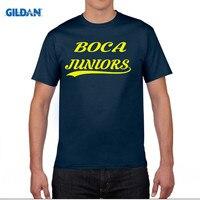 GILDAN CA BOCA JUNIORS BUENOS AIRES SHIRT Footballer CAMISETA FUTBOL ARGENTINA T Shirt Men T Shirt