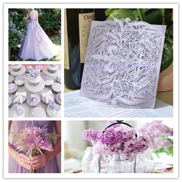 Purple Laser Cut Wedding Invitations
