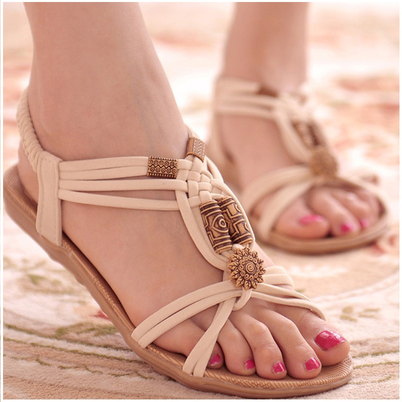 women's sandals summer fashion Gladiator solid women flats casual shoes Woman flip flops beach Zapatos mujer gladiator sandals 2017 fock women summer comfort flats fashion creepers platform casual shoes woman 2 colors