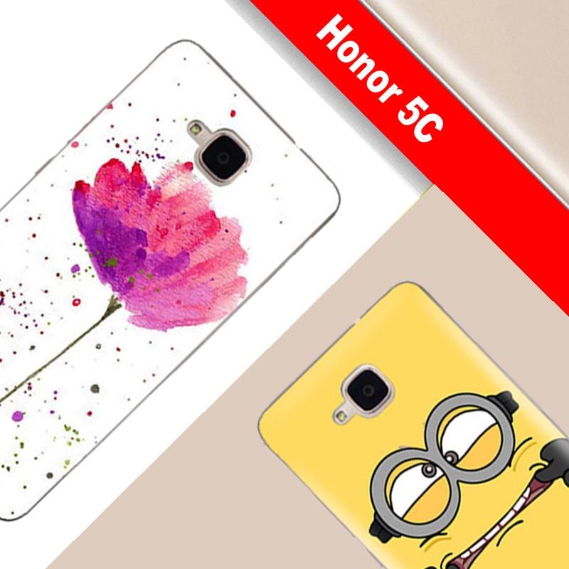 Huawei honor 5c case sin huella digital id pintura tpu case para huawei honor 5c