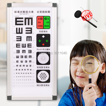 China best quality E chart visual acuity chart LED light source logarithmic visual acuity chart Optometry equipment
