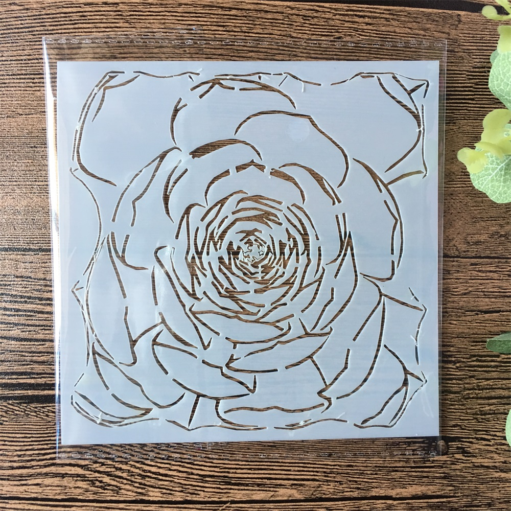 13cm Peony Flower DIY Layering Stencils Painting Scrapbook Coloring Embossing Album Decorative Paper Card Template