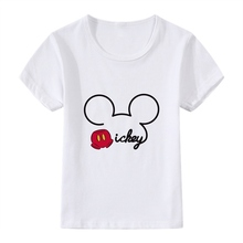 Mickey Interesting Birthday Present Bowknot Cute Cartoon Modal Kidswear, Boy/girl Summer T-shirt Short Sleeve White Kid Clothes