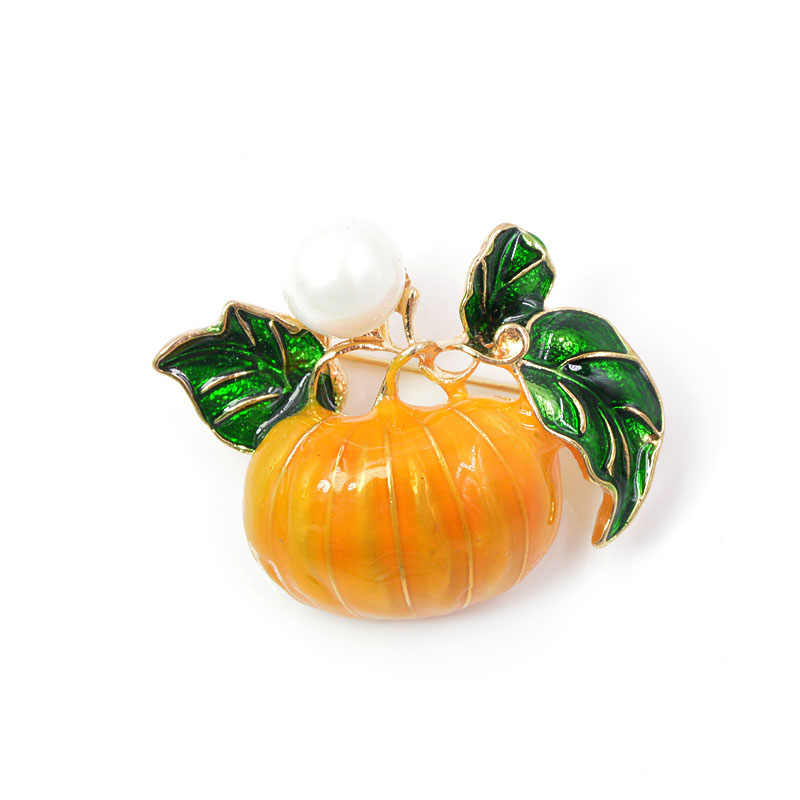 Cindy Xiang Mutiara Labu Bros untuk Wanita Halloween Enamel Pin Fashion Perhiasan Orange Anak-anak Hadiah DROP Shipping Baru 2018