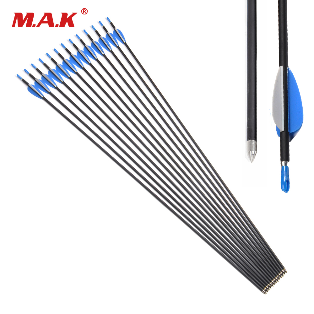 6/12/24 Pcs/lot 32 Inches Long Carbon Arrow Spine 1200 OD 5.65 mm ID 4.2 mm For Compound/Recurve Bow Archery Hunting цена 2017