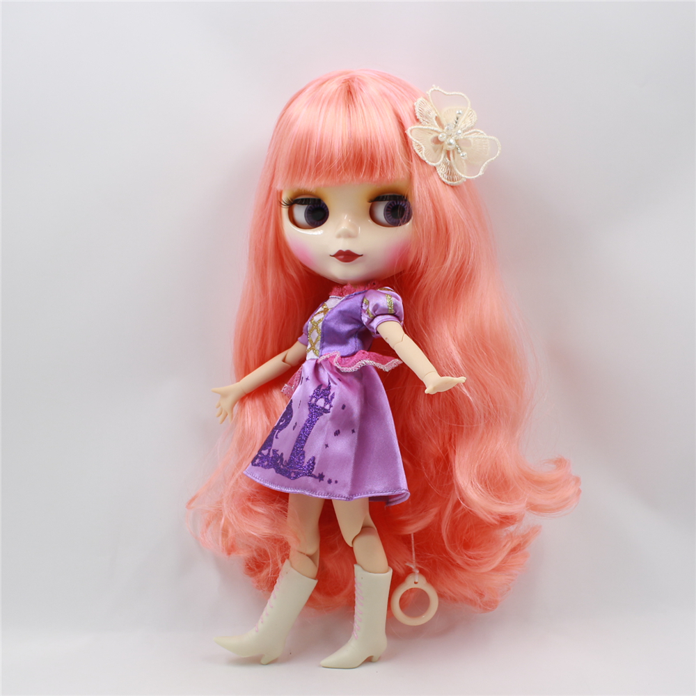 Blyth Nude Doll  Wavy long Hair with bangs 4 Colors Big Eyes 30cm fashion bjd 1/6 doll DIY makeup toys for girlsBlyth Nude Doll  Wavy long Hair with bangs 4 Colors Big Eyes 30cm fashion bjd 1/6 doll DIY makeup toys for girls