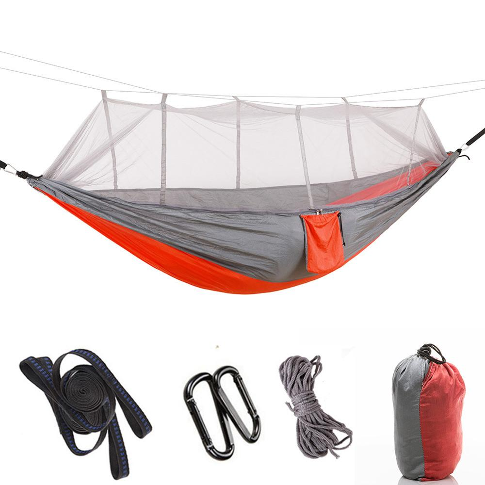 High Quality Outdoor Camping Hammock Hanging Sleeping Bed Swing Portable Chair With Mosquito Net With Lower Price,300*200 CM
