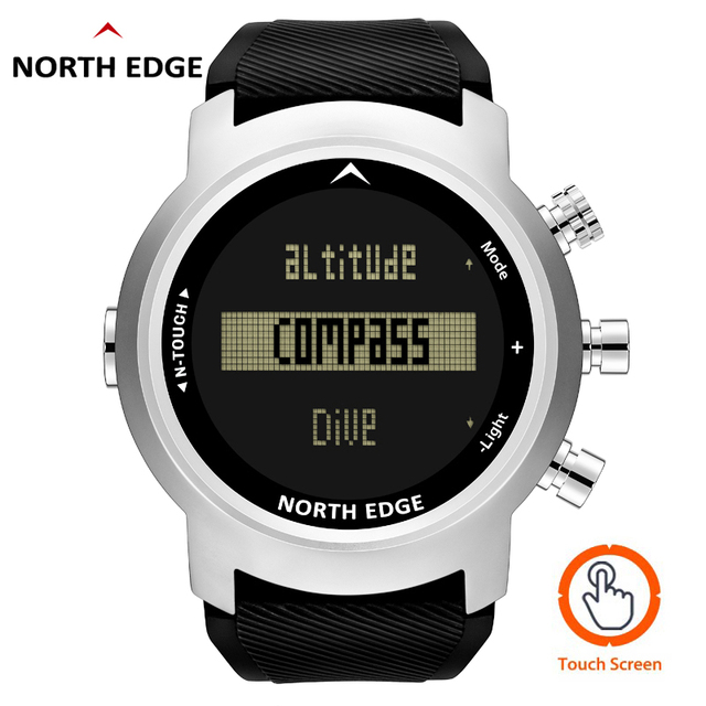 2019 New Men Diving Watch LED Digital Military Watch Waterproof 50M Dive Swimming Sport Watches Wristwatch Compass Altimeter 1