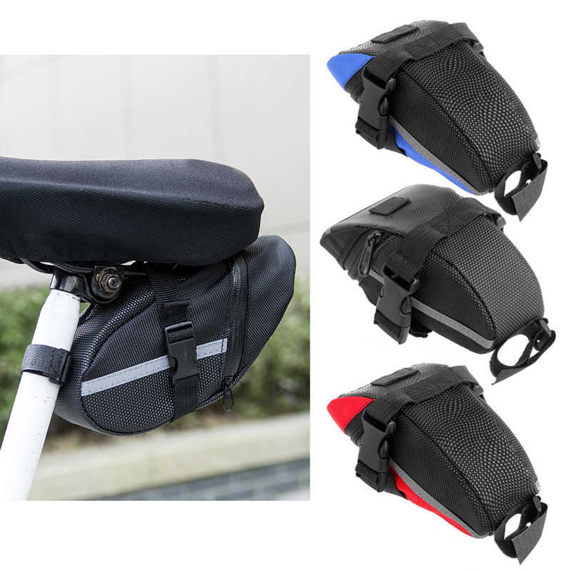 Outdoor Waterproof Cycling Mountain Bike Back Seat Rear Bag Portable Bike Saddle Bag MTB Front Tube Bicycle Tool Bags Tail Pouch