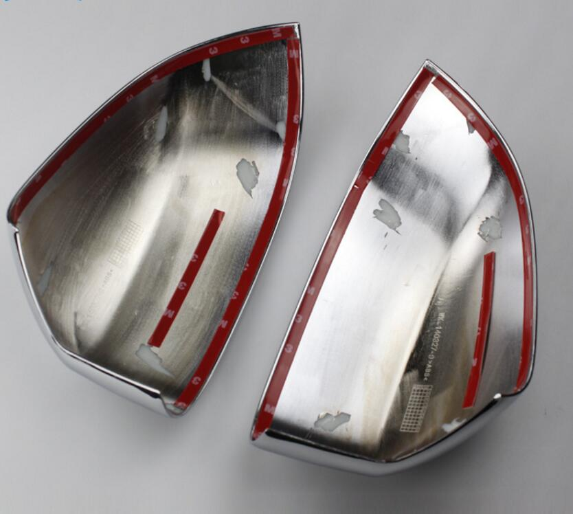 ABS Chrome font b Car b font Side Door Mirror Rearview Cover Trims 2pcs For BMW