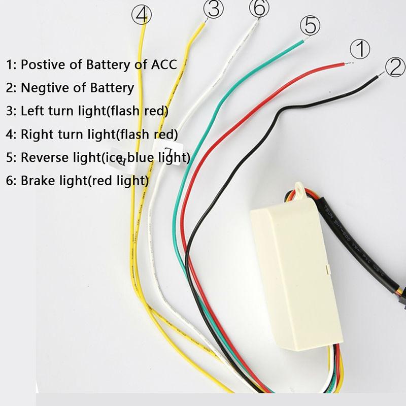 Flexible Tailgate LED Strip Light Bar Reverse Brake Turn Signal Tail For Ford Dodge Ram Chevy Chevrolet Backup Reverse Brake Tail Turn Signal Light 5-Function Red White For Truck SUV Pickup (4)