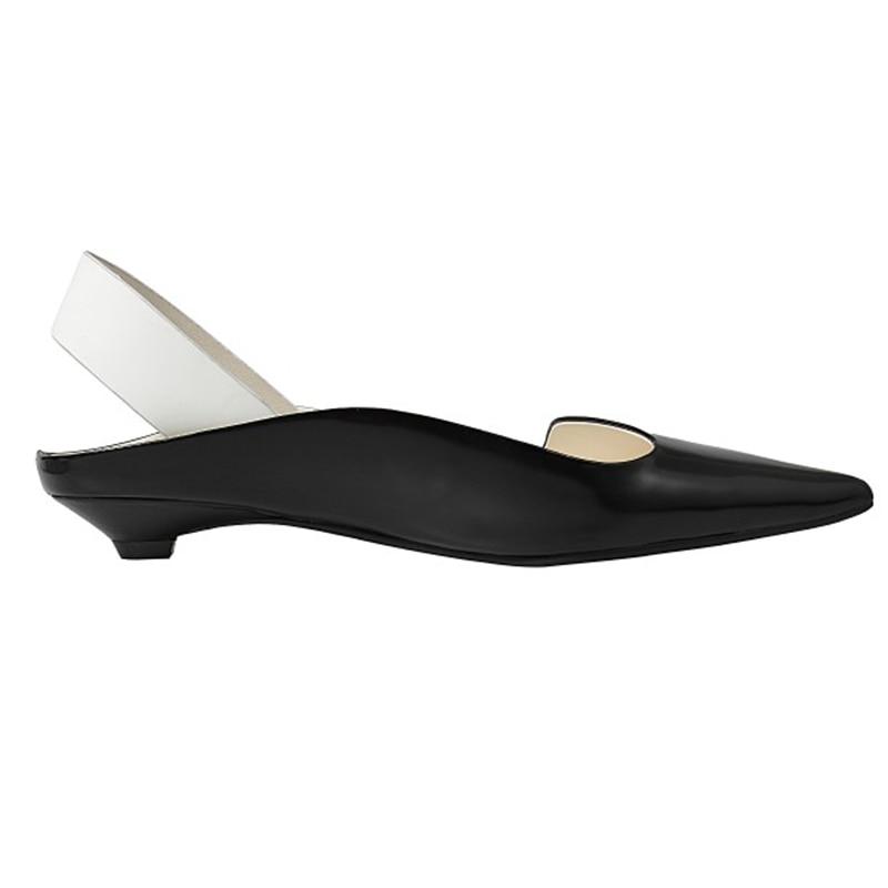 2019 Pie white Del Cuero De Black Fuera Dedo Las Verano Cm Alto Mujeres Zapatos 2 Sandalias Puntiagudo Genuino Tacón qzrwxzUXS