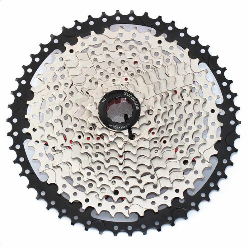 SUNSHIN Mtb الدراجة حذافة 11 سرعة دراجة محور كاسيت 11-50T الفولاذ المقاوم للصدأ سلسلة عجلة ل SHIMANO XT M8000 الدراجة أجزاء