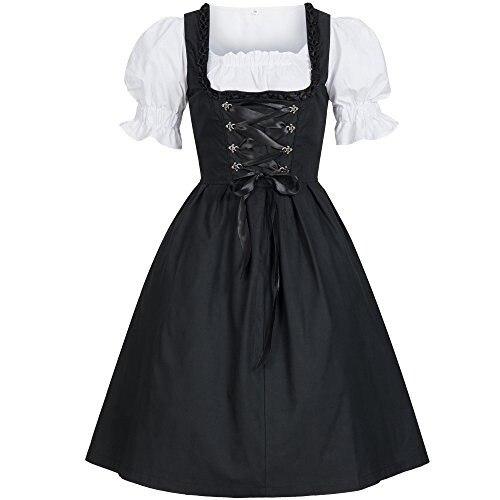 Plus size 5XL Donne Signore di Birra Domestica Autentico Blu Dirndl Tedesco Oktoberfest Costumi Oktoberfest Halloween Party Fancy Dress