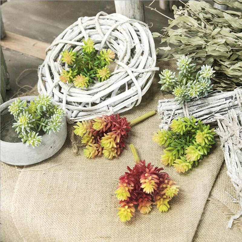 New Real touch Artificial small Succulent plants Plastic Lotus Succulents for home office garden DIY decoration fake Flowers