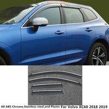 Горячая Распродажа для Volvo XC60 автостайлинг кузова крышка пластик оконное стекло Ветер козырек Дождь/Защита от солнца гвардии Vent часть 4 шт. аксессуар