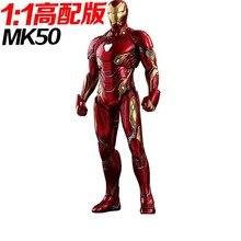 Hoge Met Cut Gratis 1:1 Kan Dragen Iron Man Body Hoofd Armor Eva Model Tonen Rekwisieten Cos Wearable