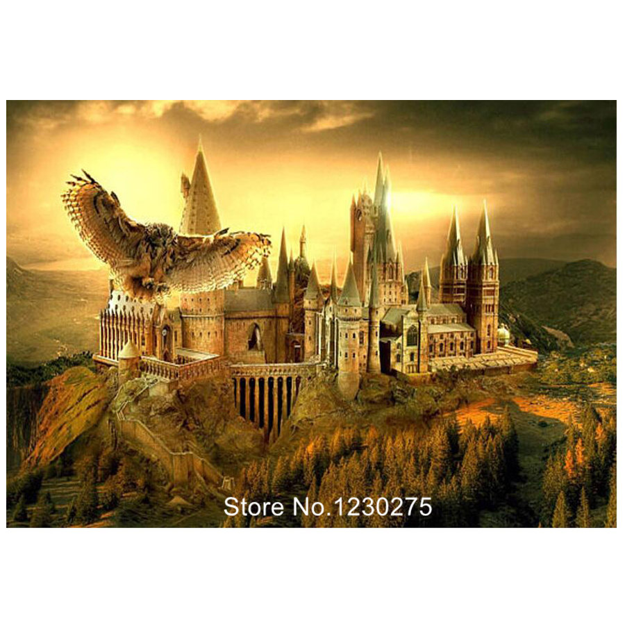 Harry Potter School Landscape Diamond Painting Cross Stitch Diy Square 5D Mosaic Needlework Full Diamond Embroidery Kits BG210