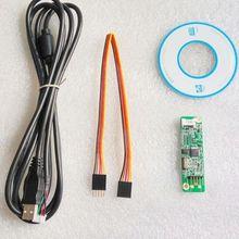 Cartão resistive do motorista da tela de toque do lcd do controlador do écran sensível do usb de dykb 5 fios com cabo de usb