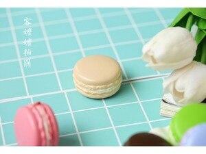 Image 4 - 2 ピース/ロット 5 センチメートルマカロン模擬パンイン写真の小道具食品ベーキング写真撮影アクセサリー背景 Diy 装飾