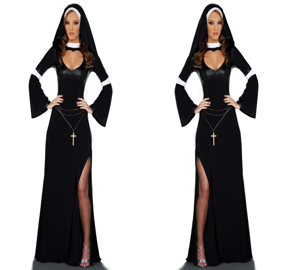 Sexy Adult Womens Halloween Costume Sexy Mother Superior Arabia Nun Costumes Fantasy -5768