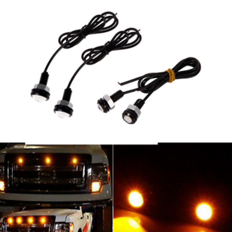 4pc SVT Raptor Style LED Amber Grille Lighting Kit, Universal Fit Truck SUV басовый усилитель ampeg svt 3pro