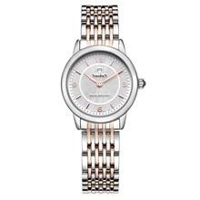 Мода Часы Женщины Nuodun Наручные Часы Дамы Простой Кварцевые Часы Женщины Из Нержавеющей Стали Часы Relógio Feminino