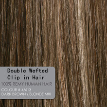 14inch-26inch Piano Color P4/613 Double Wefted Clip In Human Hair Extensions Remy Human Hair Full Head 140g