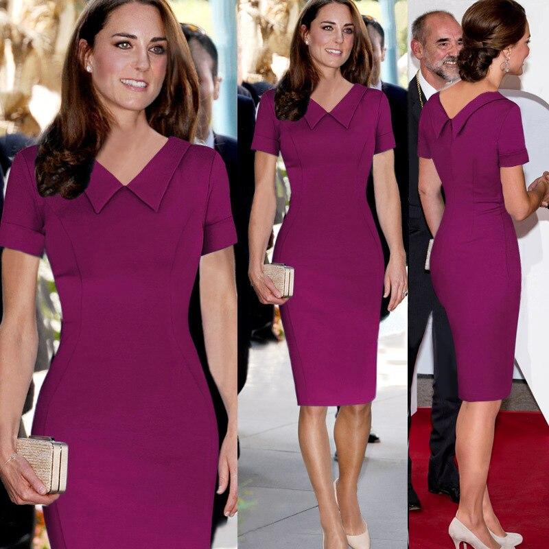 2015 verano Kate Middleton vestidos celebridad Peter Pan Collor ...