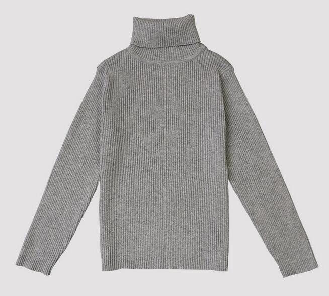 daddb1a96865 2017 Spring Autumn Knitted Turtleneck Boys Girls Sweaters Children ...
