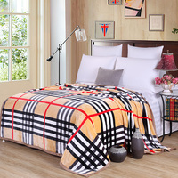 Scotland Plaid Fleece Blankets On The Bed 100 Polyester Flannel Blankets Multi Size Brief Stripes Bedspread