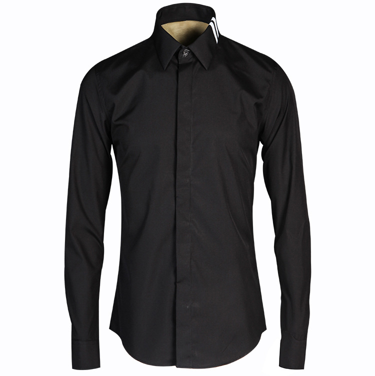 Mens dress shirts white luxury shirt men brand cotton for Expensive mens dress shirts brands