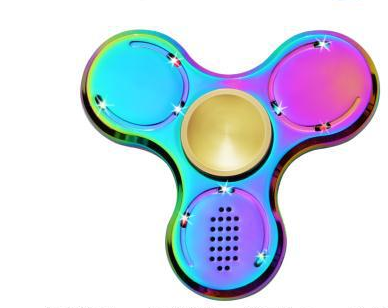 Hot Selling Bluetooth for Kids Adult LED Rainbow Finger Handspinner Glow in The Dark Fig ...
