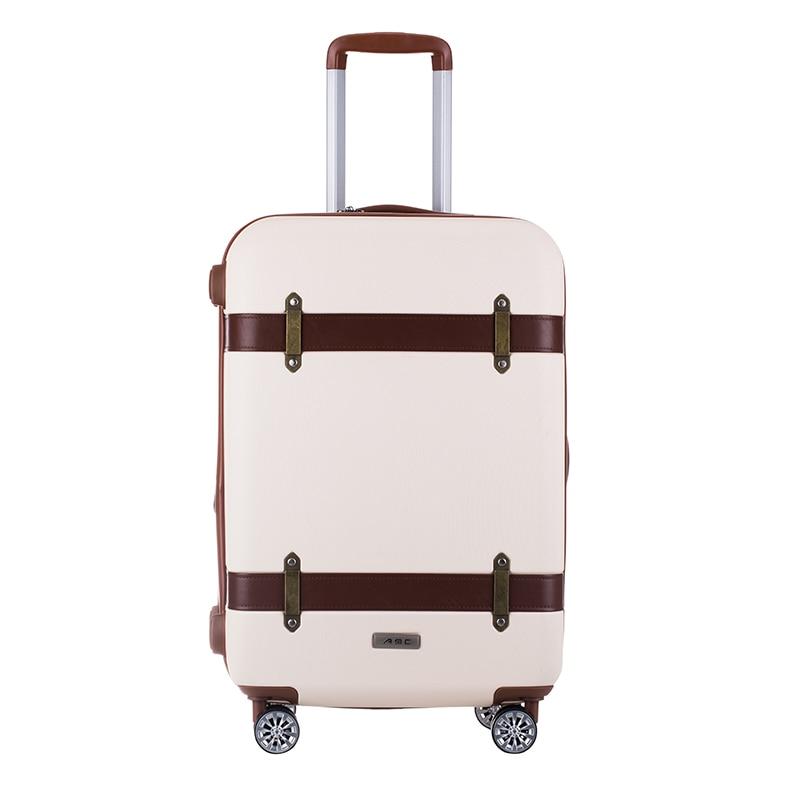 Оптовая продажа! 20 24 дюймов ABS Hardside Случае Ретро тележки для багажа на универсальные диски, высокого качества винтажные багаж для женщин