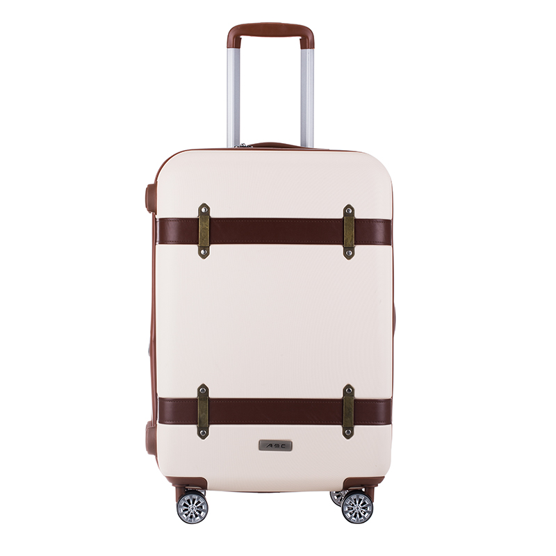 Wholesale!20 24inches abs hardside case retro trolley luggage on universal wheels,high quality vintage travel luggage for female