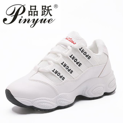 Woman Casual Shoes 2018 Breathable Sneakers Woman White 40 Size Woman Canvas Shoes Platform Quality Sneakers Shoes topsell 2017 men women 3 casual shoes black red white solomons runs breathable shoes free shipping size 40 46 speedcros