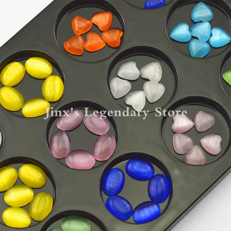 12 colors Heart and Oval 3D Acrylic nails art decorations gel Flat Back Rhinestones Gems Opal  DIY nail decorations mix rhinestones on nails opal crystals of opal rhinestones for nail glass gems 3d nail art strass ongle decorations mjz1025