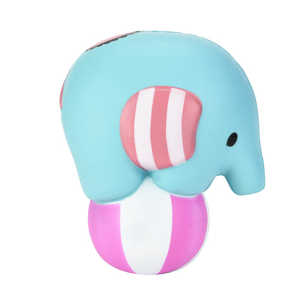 Jumbo Cute Circus Elephant Play Ball Squishy Scented Cream Slow Rising Squeeze Toys Funny Gift Healing Toy Stress Reliever