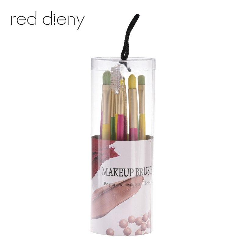 цены на 12pcs Eye Makeup Brush Set Candy Color Handle Soft Hair Professional Eyeshadow Blending Eyebrow Eyelash Comb With Box в интернет-магазинах