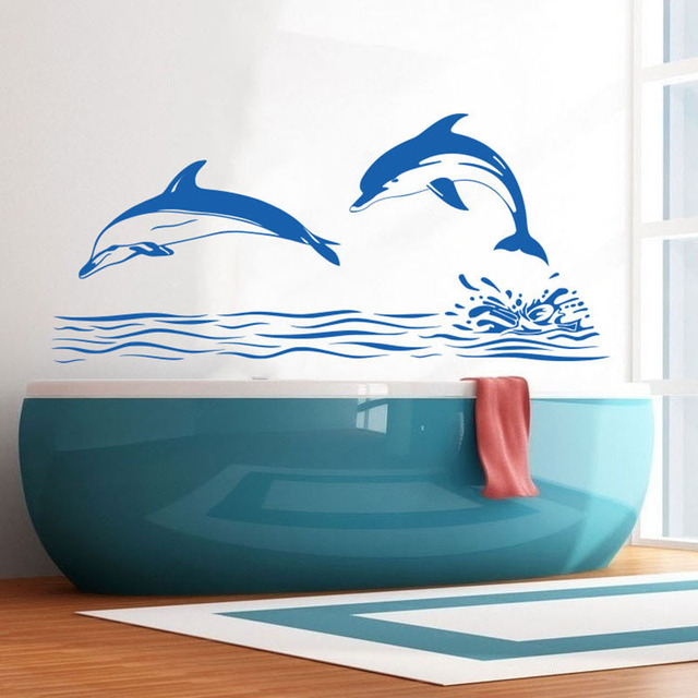 Dolphin Bathroom Tiles: ZOOYOO Dolphin Wall Decal Art Decor Sticker Bathroom