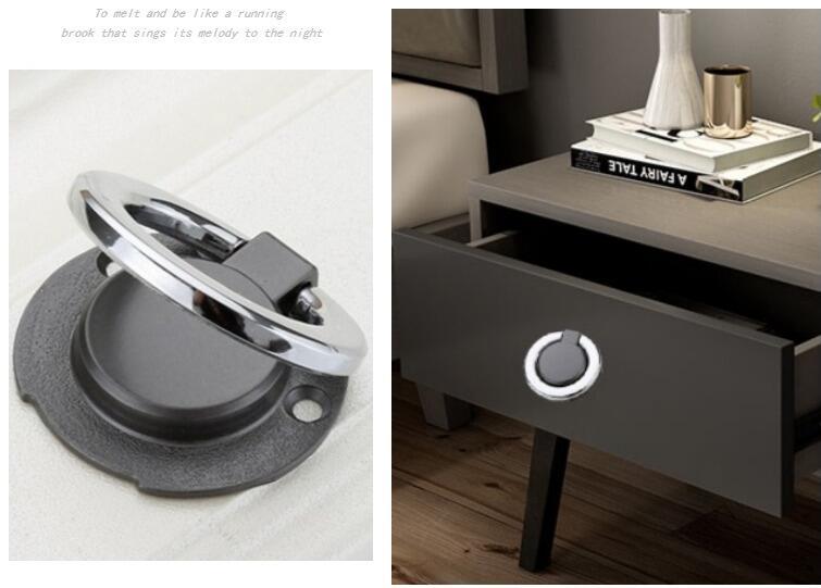 HTB1x70tLPTpK1RjSZKPq6y3UpXad - New solid Concealed drawer knob ring round handles Wardrobe Cupboard Door handles for interior doors Pulls Furniture Hardware