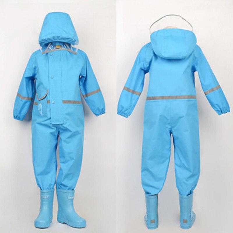 85-130 CM imperméable imperméable à l'eau pour enfants enfants bébé manteau de pluie poncho garçons filles élèves de l'école primaire siamois costume de pluie