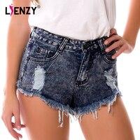 Summer Hot Women's High Waist Denim Shorts European Style Ripped mini short jeans Fashion New