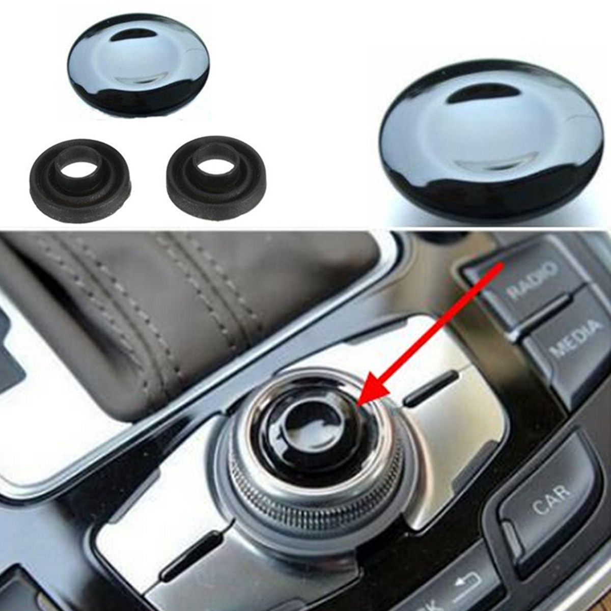 MMI Knob Joystick Button Cap Cover Repair Kit For Audi A4 A5 A6 Q5 Q7 S5 S6 S8 Cabriolet Sedan Avant pochette étanche pour téléphone
