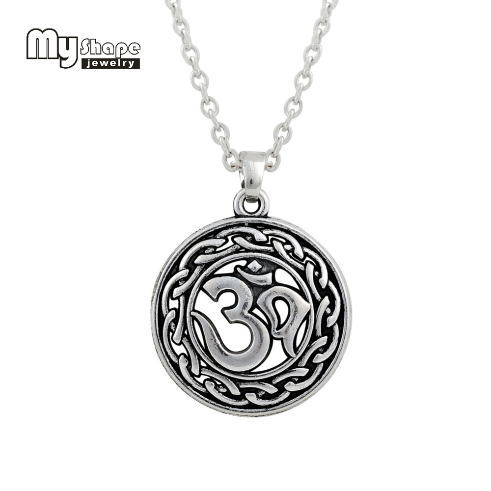 My Shape Om Yoga Religious Vintage Necklace Charmed Symbol Necklace